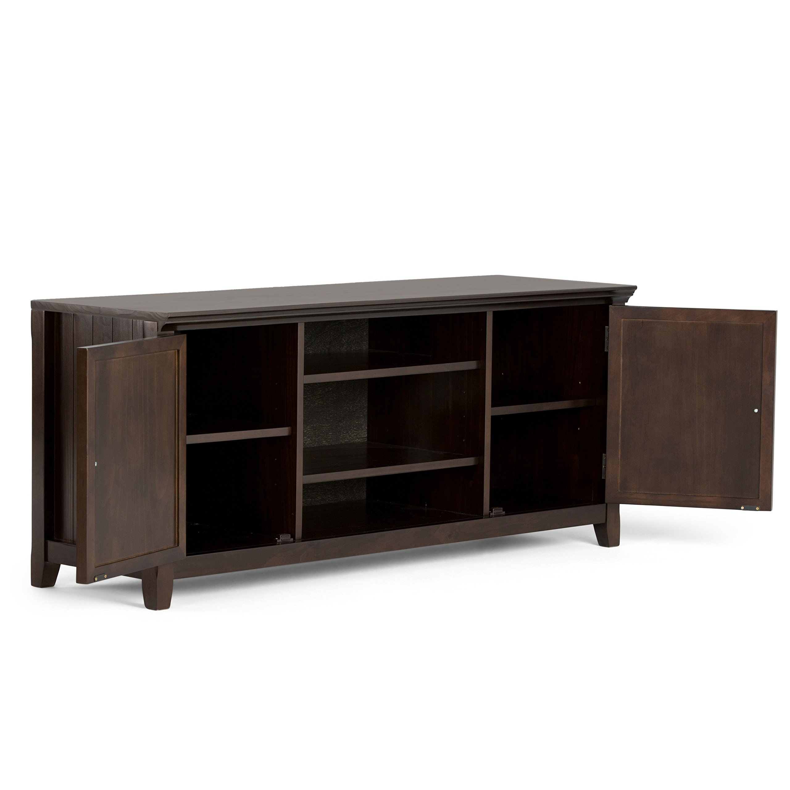 Simpli Home Acadian Solid Wood TV Media Stand for TVs up to 60'', Rich Tobacco Brown by Simpli Home (Image #3)