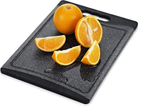 Home & Kitchen Essentials Extra Large Cutting Board. Reversible, Marble Granite Gray, BPA Free, Dishwasher Safe, Easy-Grip Handle and Non-Porous with Juice Grooves