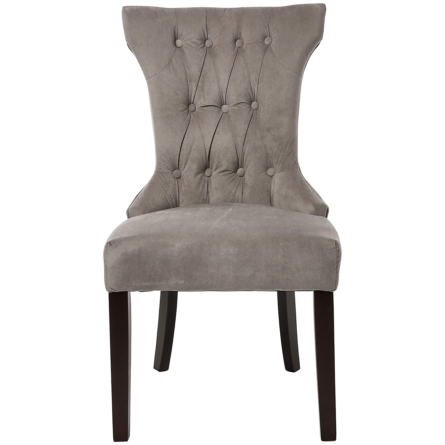 Red Hook Mitros Tufted Upholstered Armless Dining Chair – Set of 2, Taupe