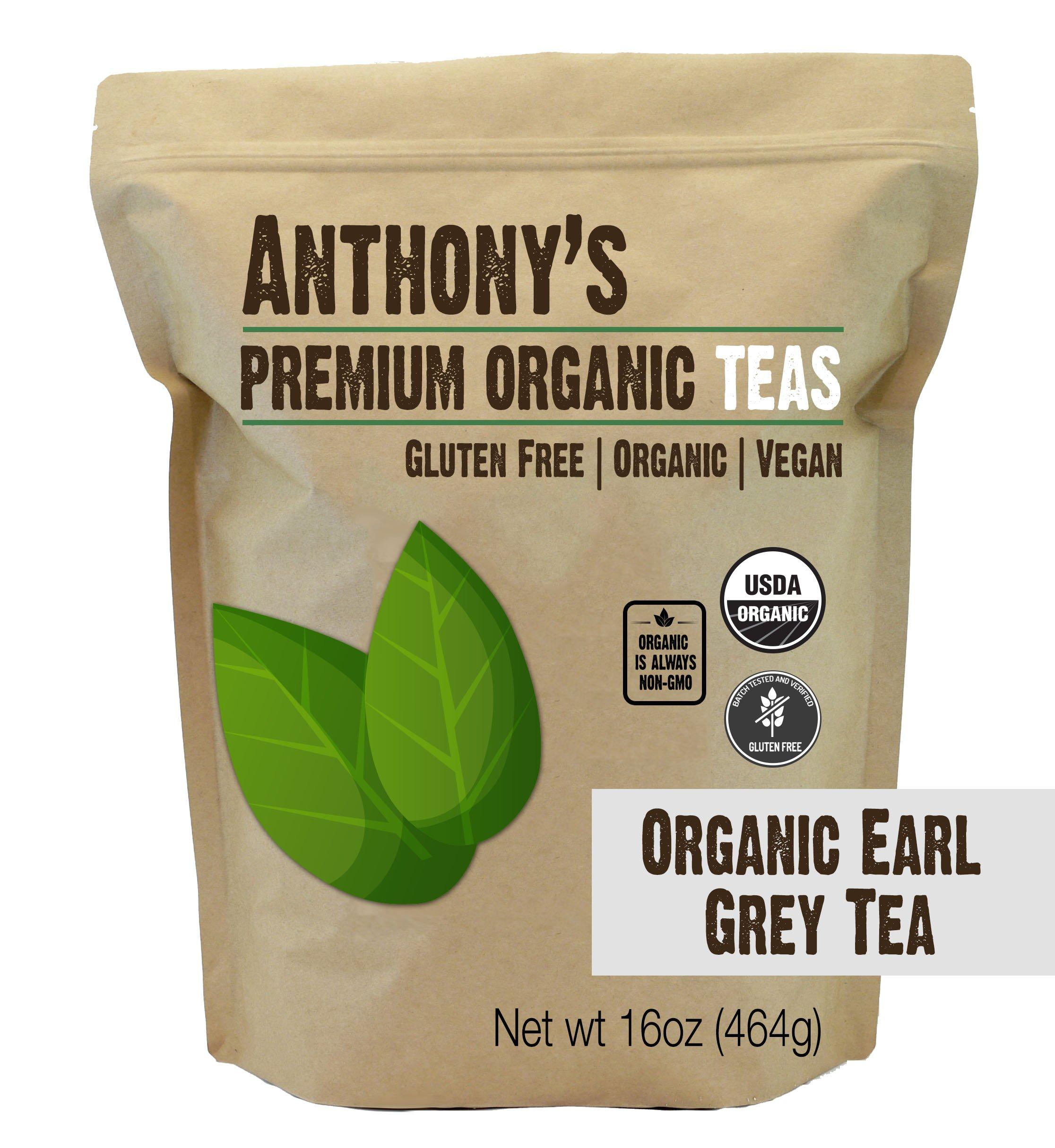 Anthony's Organic Earl Grey Loose Leaf Tea 1lb, Gluten Free, Non GMO & Non Irradiated