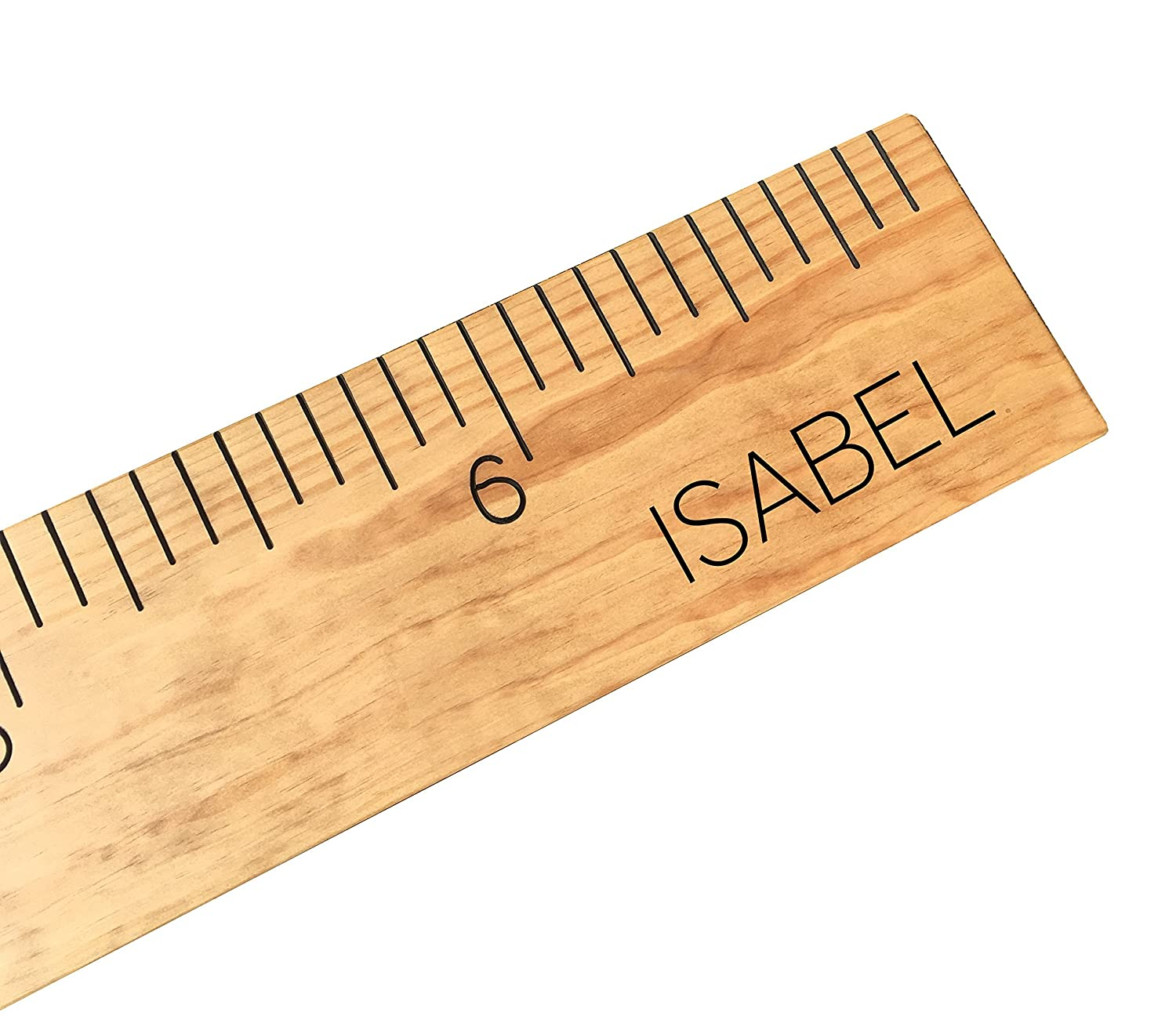 custom growth chart, engraved, personalized wooden ruler, measuring height stick, handmade, routed