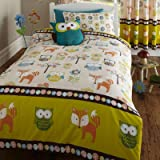 Woodland Creatures Single Duvet Cover and Pillowcase Set