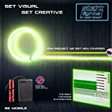 10m/32.8ft Large 3.2 mm Thick - Lime Green Neon LED Light Glow EL Wire - Powered by 6V - Sound Active - Electroluminescent Wire String Light for DIY Project Costume Accessories Cosplay
