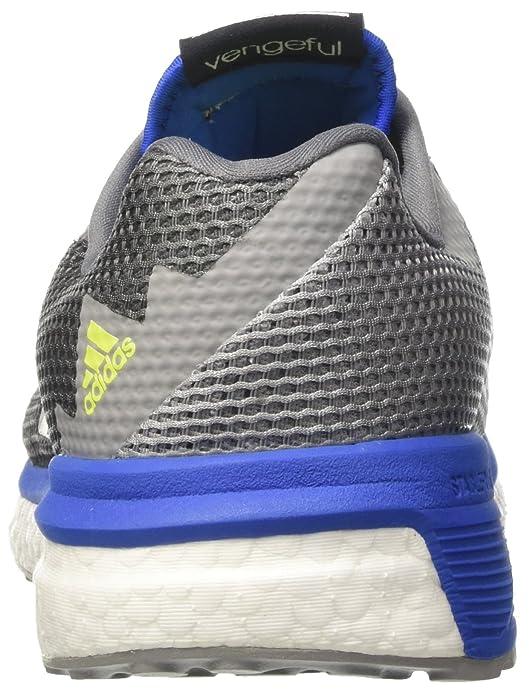 Adidas Vengeful M, Zapatos Correr Hombre, Gris (Grivis/grivis/Azul), 44 EU