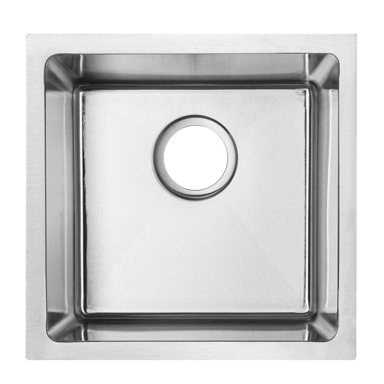 14 Bar Sink Ticor Plz 05 Undermount 18 Gauge Stainless Steel Square
