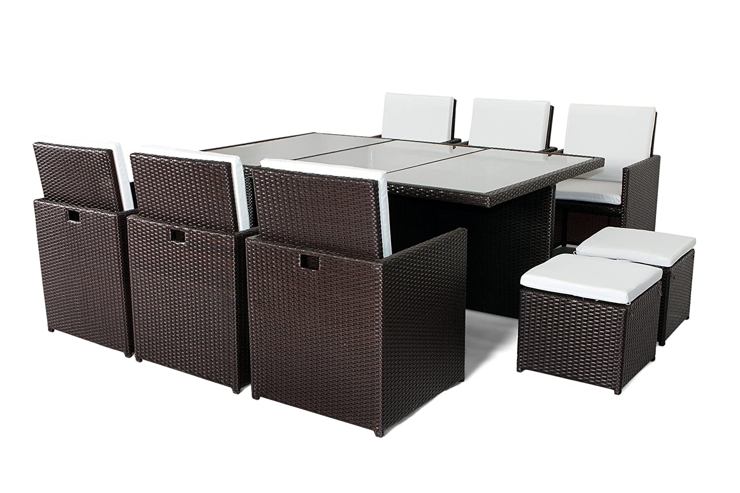 rattanm bel sitzgruppe nassau deluxe 195x130 5 5cm polster braun jetzt bestellen. Black Bedroom Furniture Sets. Home Design Ideas