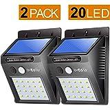 LivEditor 20 LED Solar Motion Sensor Light,Outdoor Weatherproof for Driveway Garden Path Yard-2 pack