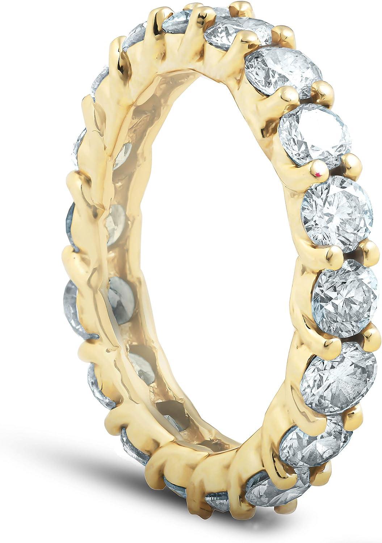 3Ct Diamond U Prong Eternity Ring Wedding Anniversary Band 14k Yellow Gold