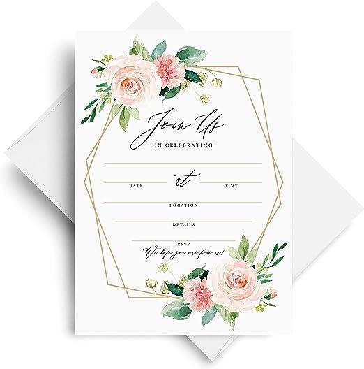 Boho Floral Frame Table Number Cards Wedding Birthday Christening Baby Shower