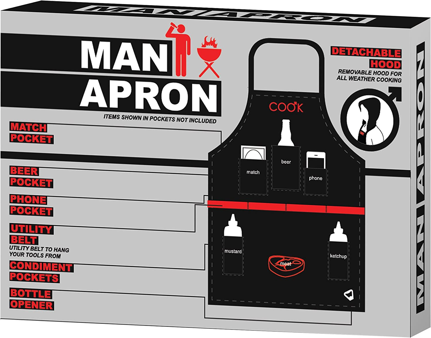 The Man Apron Ultimate BBQ Apron