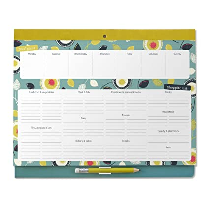 amazon com boxclever press big meal planner magnetic