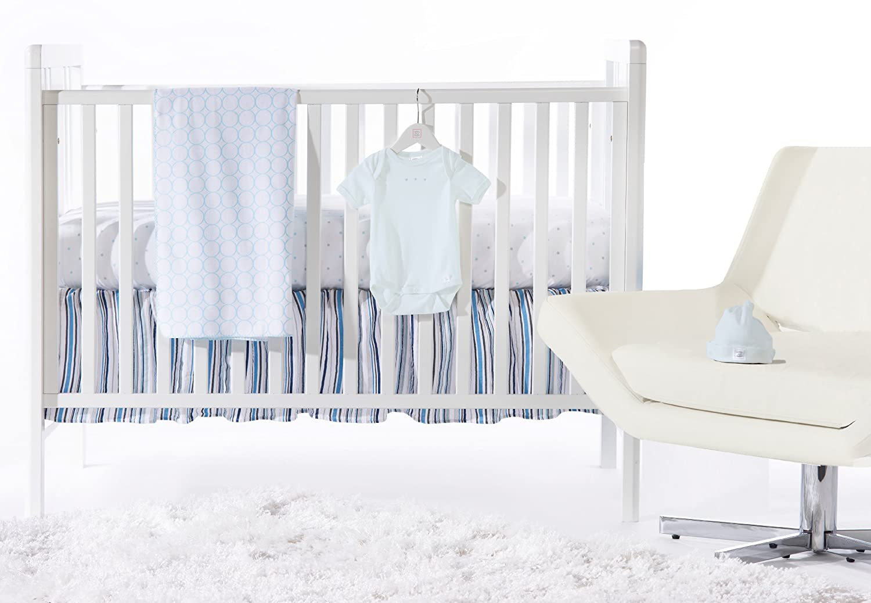 SwaddleDesigns 5 Piece Crib Bedding Set + Crib Skirt, Pure Green, 0-3MO SD-513PG