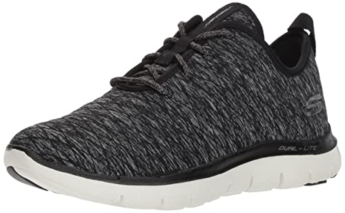 b8346eabe1476 Skechers Flex Appeal 2.0 First Impressions Mujer US 9 Negro Zapatillas   Amazon.es  Zapatos y complementos