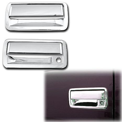GMC Sierra+HD Triple Chrome Plated 2 Door Handle+Passenger Keyhole+Gas Cover