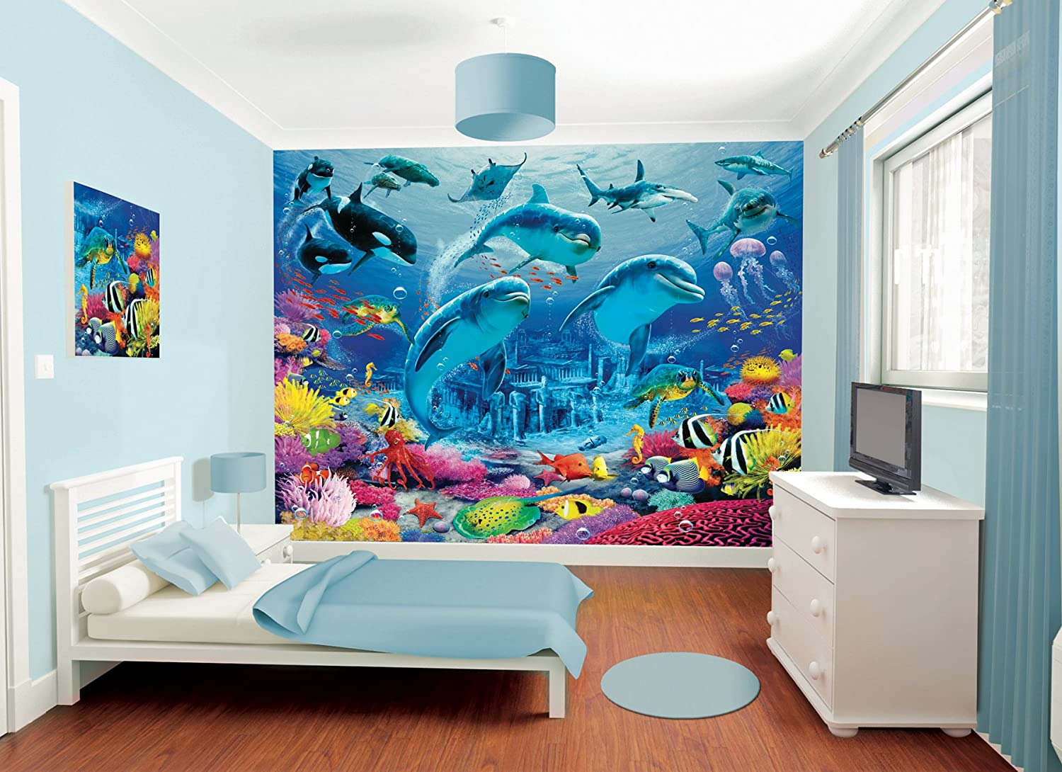 Marvelous Walltastic Sea Adventure Wallpaper Mural 8ft X 10ft: Amazon.co.uk: Kitchen  U0026 Home Part 9
