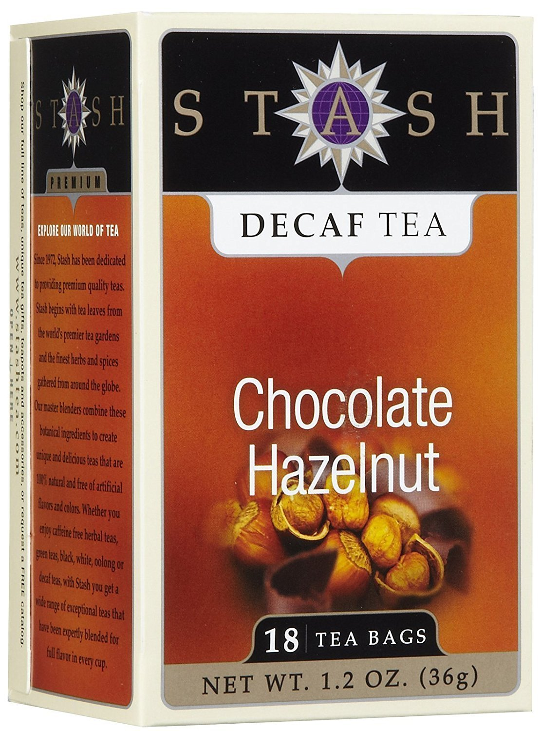 Stash Tea Decaf Chocolate Hazelnut Tea - 18 ct