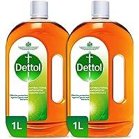Dettol Antiseptic Antibacterial Disinfectant Liquid, 2 X 1L - Pack of 1
