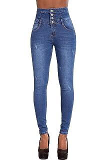Kasen Mujer Pantalones Vaquero Skinny Push Up Pantalones ...