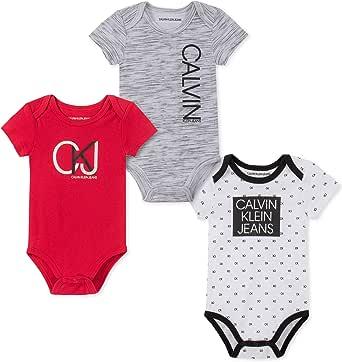 Calvin Klein Baby Boys 3 Pieces Pack Bodysuits