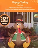 Outdoor Decor 3.5 ft. Inflatable Lighted Happy Turkey