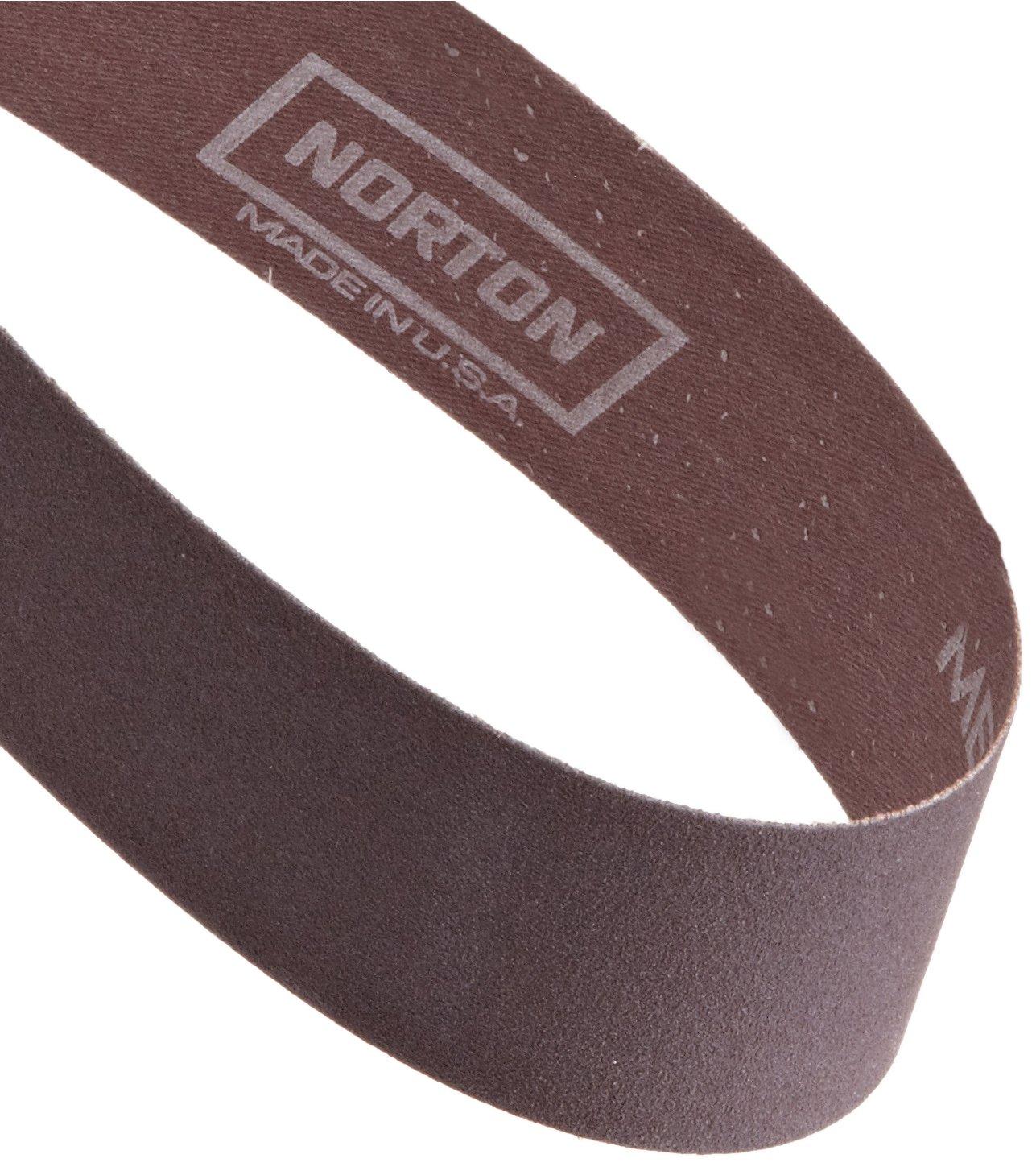 Aluminum Oxide 72 Length Grit 120 Pack of 5 Norton Metalite R228 Benchstand Abrasive Belt Cotton Backing 2 Width