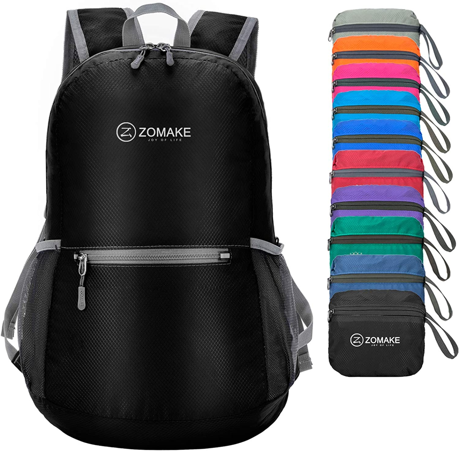 ZOMAKE Ultra Lightweight Packable Backpack Water Resistant Hiking Daypack, Small Backpack Handy Foldable Camping Outdoor Backpack Little Bag : Sports & Outdoors