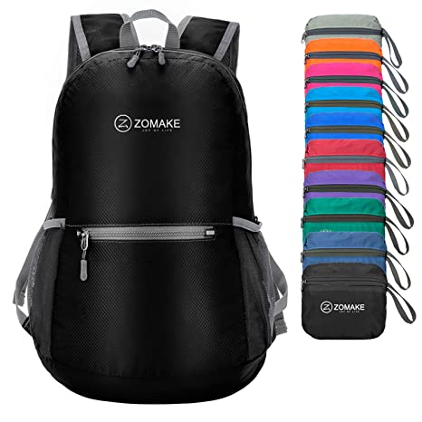 e6b1d3c61b ZOMAKE Ultra Lightweight Foldable Backpack Water Resistant Hiking Daypack