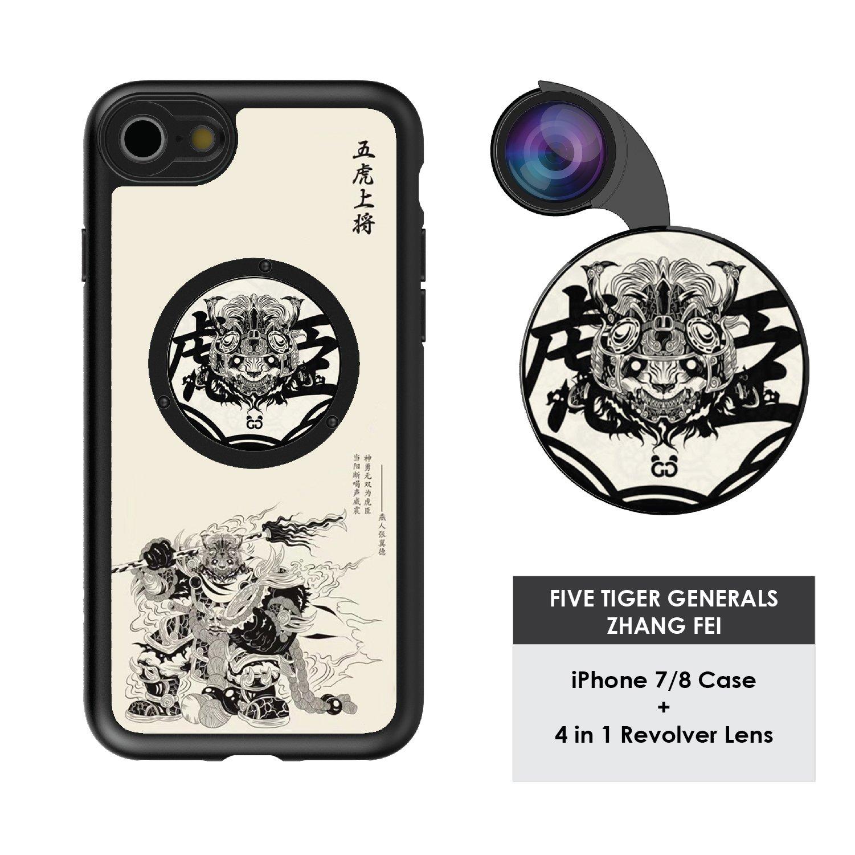 Funda y 4  Lentes Ztylus Revolver p/ iPhone 7/8 - Zhang F...