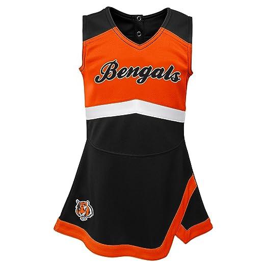 755942af6 Outerstuff NFL NFL Cincinnati Bengals Kids & Youth Girls Cheer Captain  Jumper Dress Black, Kids
