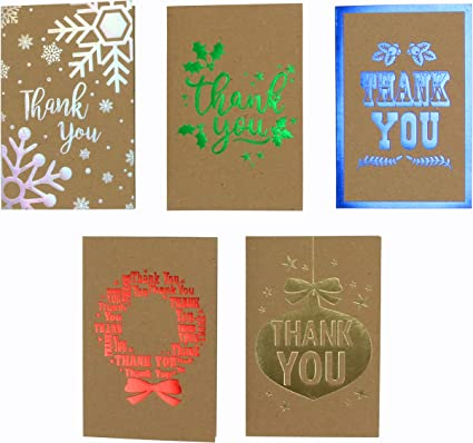 """Iconikal Christmas/""""Thank You/"""" Note Greeting Cards with Envelopes 35-Count"""