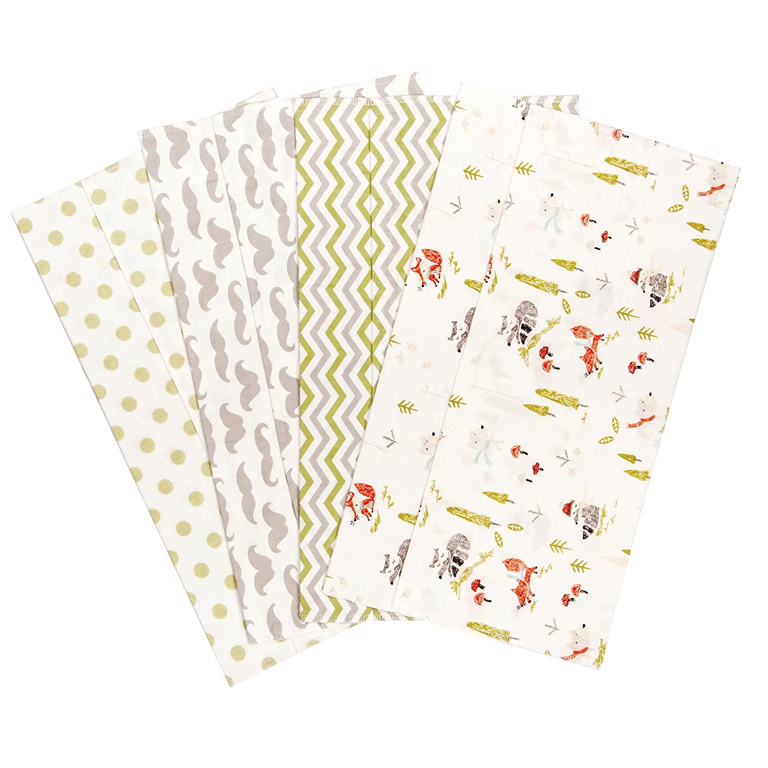 Trend Lab Winter Woods 4 Deluxe Flannel Burp Cloths 101607