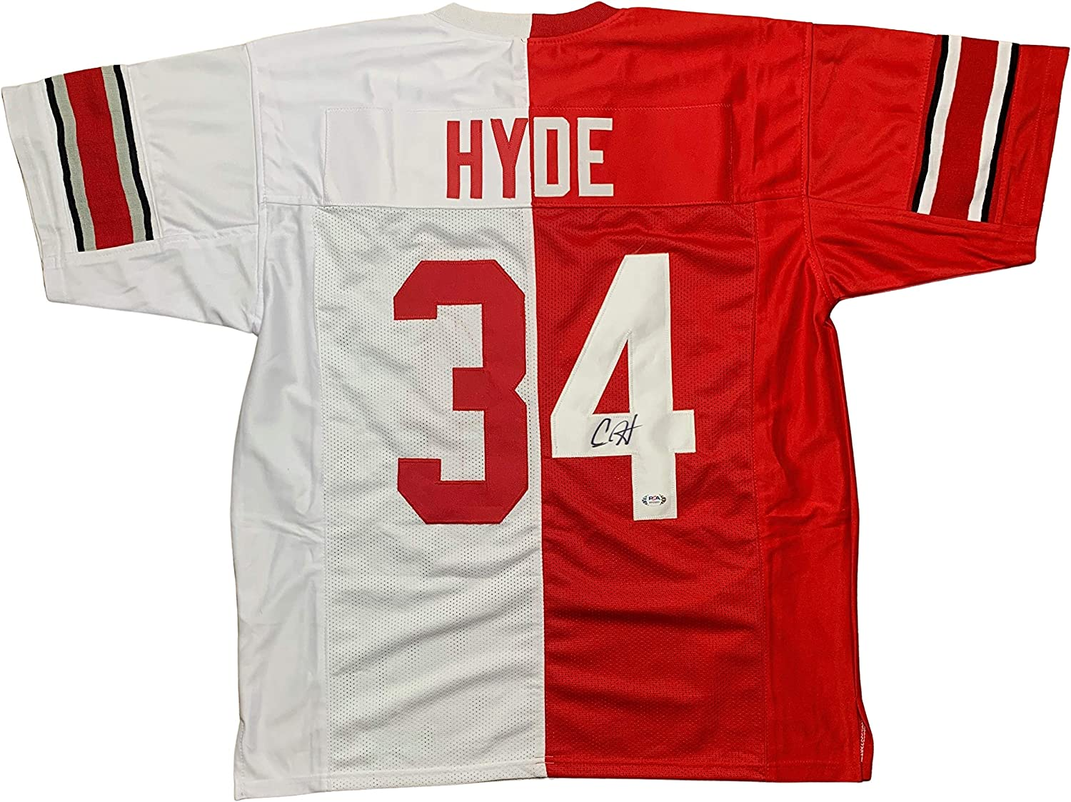 Carlos Hyde autographed signed jersey NCAA Ohio State Buckeyes PSA ...