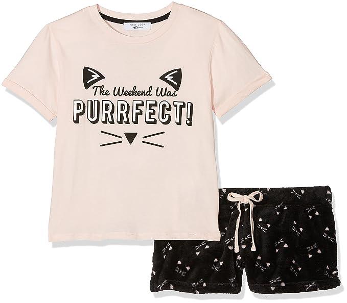 New Look 915 Puurfect Snuggle, Conjuntos de Pijama para Niñas, Rosa (Light Pink