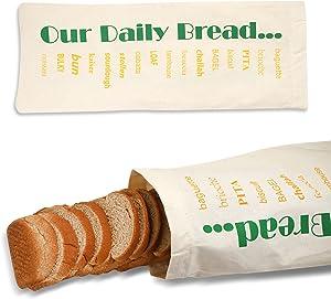 BREAD HERO Reusable Stores Better Than Breadbox, Bin, or Unlined Bread Bag and Bonus Cookbook