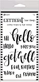 Ranger Letter It Clear Stamps, Greetings