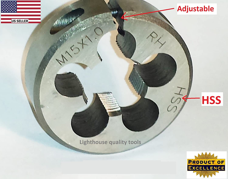 Lighthouse Quality Tools M15X1 RH Adjustable Round Threading Die