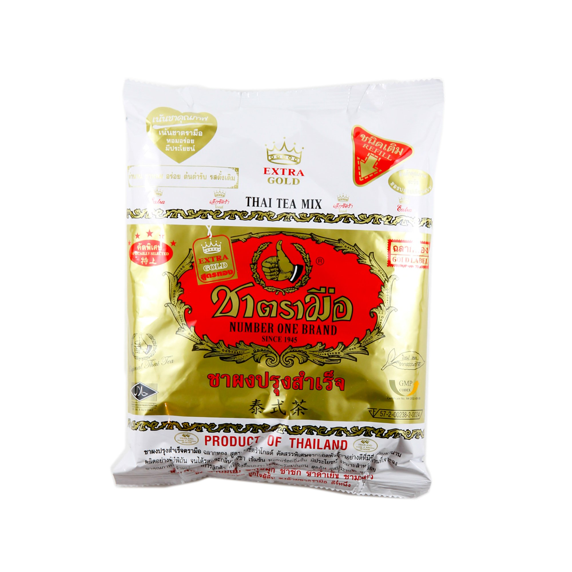 10 Bag X the Original Thai Iced Tea Mix Gold Label ~ Number One Brand Imported From Thailand! 400g Bag Great for Restaurants That Want to Serve Authentic and High Quality Thai Iced Teas. Sent with EMS