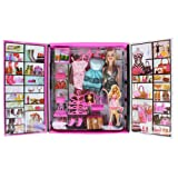 Tootpado Party Girl Doll and Her Personal Style Wardrobe Set - Black - 1c122 - Fun Fashion Princess