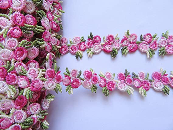 Adornos Vintage Manualidades Costura YYCRAFT: Paquete de Cinta de Encaje de Lazo para decoraci/ón de Boda Rosa Boda Lazo Manualidades Venise Rose 1//2 Novia