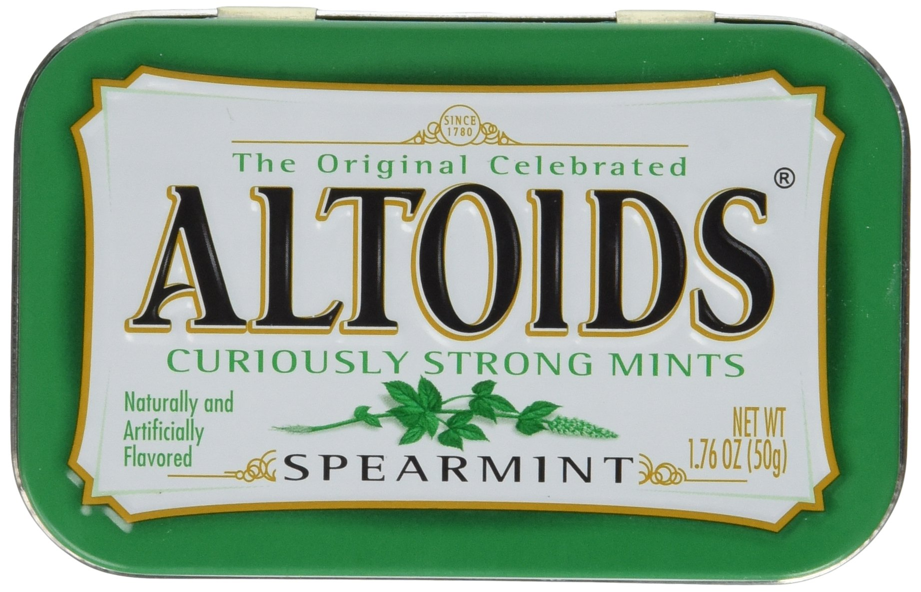 Altoids Curiously Strong Mints - Spearmint 1.76 oz (Pack of 6) by Altoids (Image #1)