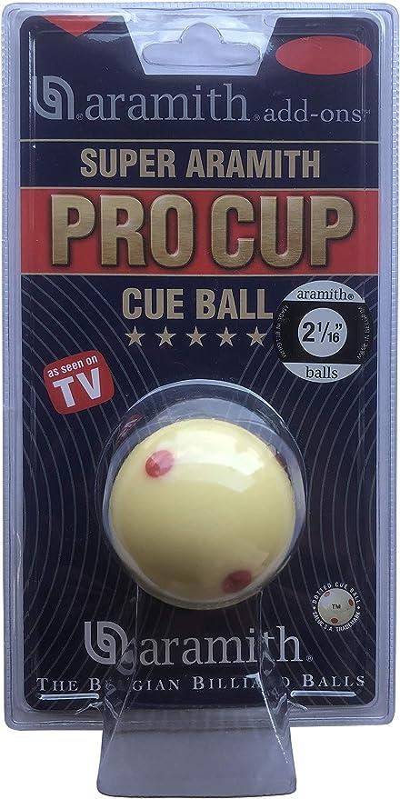 Aramith Pro Cup - Bola blanca para billar snooker (5,5 cm): Amazon ...