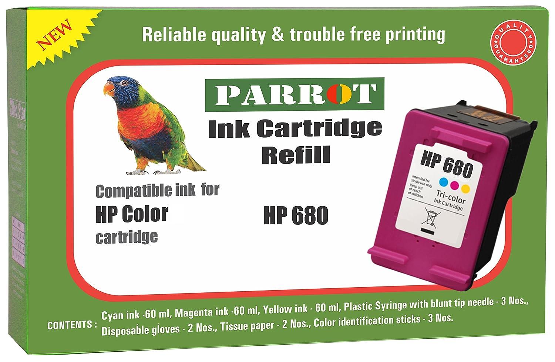 Parrot Hp 680 Color Ink Cartridge Refill For Deskjet 1115 1118 2135 Tinta Black Original 2138 3635 3636 3638 3775 3776 3777 3778 3830 3835 3838 4535 4536 4538 4675 4678