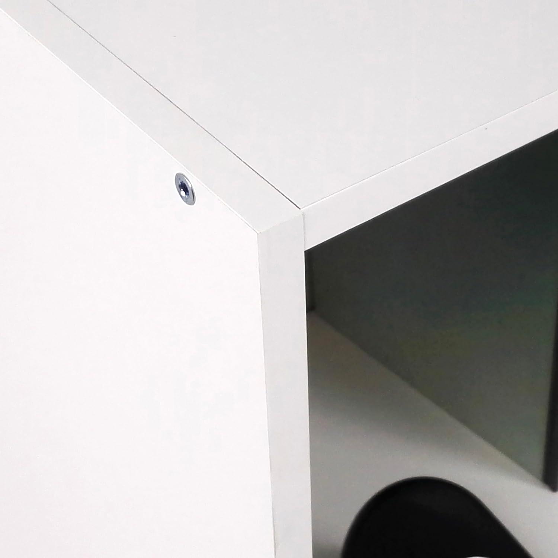 90x82x33 cm Melamina Blanco Tumueblekit Estanter/ía Baja Oficina
