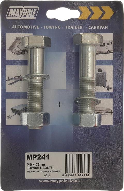 Maypole 248 Tow Ball Bolts M16 x 65 mm