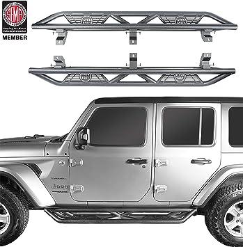 u-Box Jeep Wrangler JL Unlimited Side Step Running Board Nerf Bars w//Since 1941 Logo for 2018 2019 2020 Jeep Wrangler 4 Door