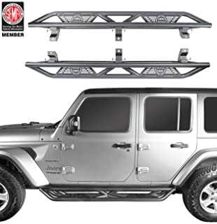 Lund 34641587 Black Steel Terrain HX Step Nerf Bars for 2012-2018 Jeep Wrangler JK 2-Door