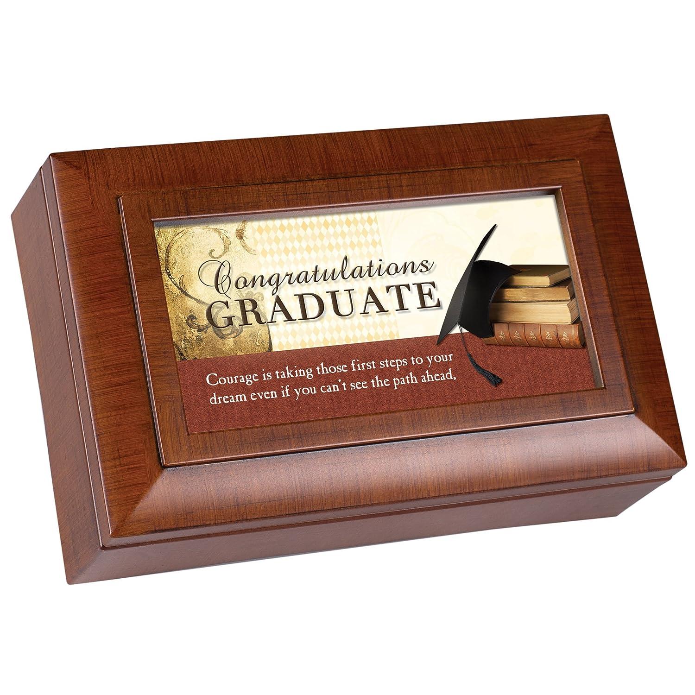 【お気にいる】 Graduate Steps Pomp toパスAhead木製仕上げ小柄ジュエリー音楽ボックスPlays Pomp Graduate and Circumstance Circumstance B01ATY4RYG, ZEROA(ゼロア):e18bed45 --- arcego.dominiotemporario.com