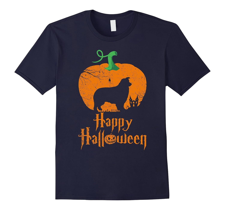 AUSTRALIAN SHEPHERD In A Pumpkin Happy Halloween T-shirt-FL