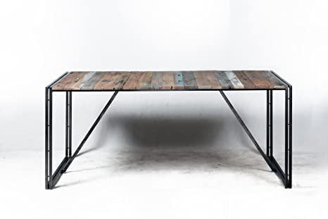 Tavolo Stile Industriale : Tavolo diner sistema smontabile 140 x 140 x 78 stile industriale in