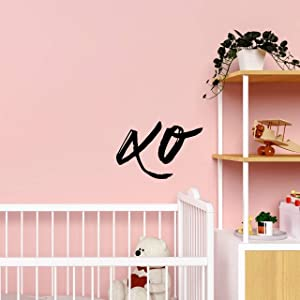 My Vinyl Story - XO Sign 2 - Wall Sticker Decal Mural Art Home Minimalist Decor for Bedroom Nursery Family Decal Quote Word Sayings Sign Removable Vinyl Decoration Girl Boy Living Room Bedroom